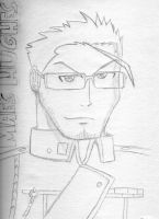 Hughes sketch by phillie-chan