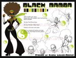 Black Mamba Character Sheet by SankofaRida