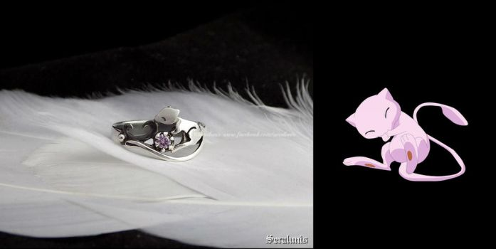 'Mew' handmade sterling silver ring by seralune