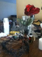 The Black Rose Crown W.I.P. by BlackheartChimera13