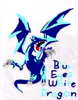 Blue Eyes White Dragon Colored by Majix101