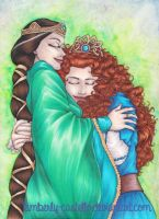 Disney: Brave-Merida and Elinor by kimberly-castello