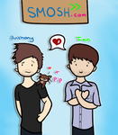 Smosh chibis by Stroodle-Noodle