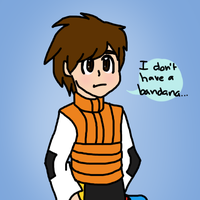 Lan without his bandana by catlover1672