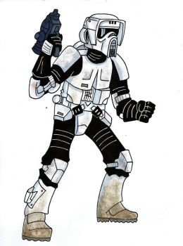 Imperial Scout Trooper by Spartan-055
