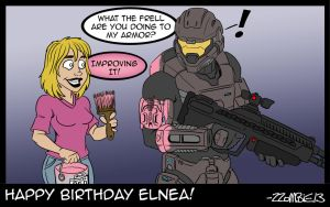 Happy Birthday Elnea by ZZoMBiEXIII