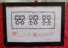 Gay Pride - cross stitch by bulmaxvegeta