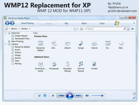WMP12 Replacement for XP by pri2sh