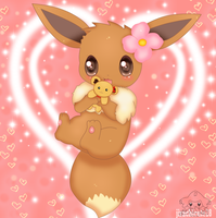 Eevee Used Attract by jirachicute28