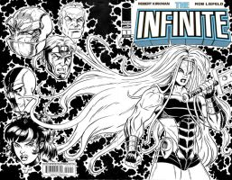 Infinite Ish 1 sketch cover with Glory by ElfSong-Mat