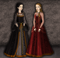 Morgana and Morgause by SingerofIceandFire