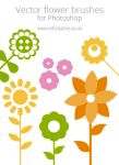 Free vector flower brushes by mfcreative