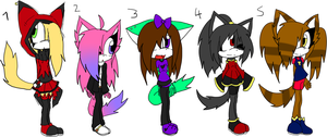 Sonic Adoptables 6 +TAKEN+ by Sky-Yoshi