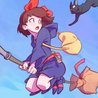 Kiki in Little Witch Academia by KR0NPR1NZ