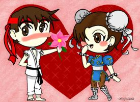 For You? Chun Li x Ryu by BrittBailey