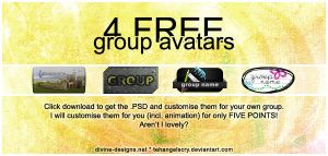 4 FREE group avatars by TehAngelsCry