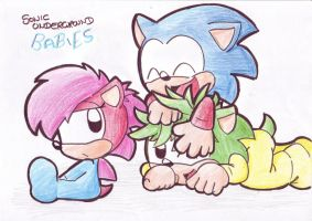 Sonic Underground babies by LeniProduction