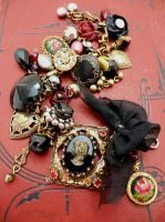 Victorian mourning bracelet by janedean