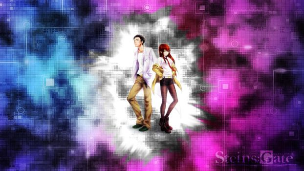 Steins Gate - Okabe and Makise by PDArtz