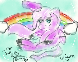Pink Unicorn for Kayla/Sally the Killer. by Draw100