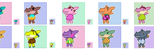 Animal Crossing Pixel Avatars- Hippos by Maareep