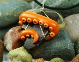 Octopus Beach Glass Necklace 3 by sagicornDreams