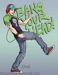 Roy Harper rockin' out by DeanGrayson