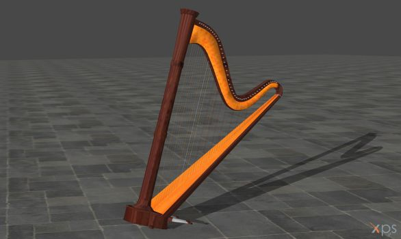 Pedal harp (posable) by Haganeya