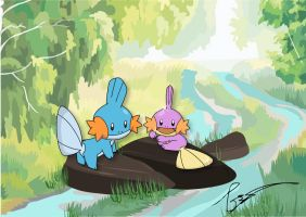 Mudkip's Lake by FraankBiebs