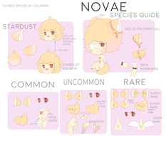 Novae Species Guide by Calikana