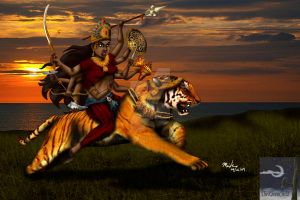 Durga - Hindu Warrior Goddess by TheSorceressRaven