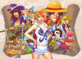 Straw hat pirates by SketchBL
