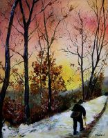 lonely walk by pledent