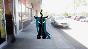 Queen Changeling Chrysalis can see me!!! by MetalGriffen69