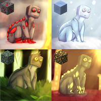 Ender block challenge (they are adopts btw) by PuddingzWolf