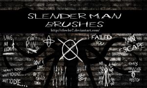 PS Brushes - Slender Man (Update) by cfowler7