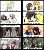 The Love Story of Cloud and Tifa by chiix04