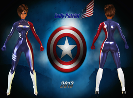 imvuART: Lady Patriot-Super Soldier Concept :3 by Krypto4CatSuits