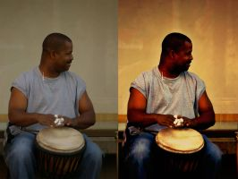 Before and After Drummer by valkyrjan