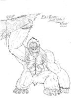 King Kong Sketch Study 2 by RenDragonClaw
