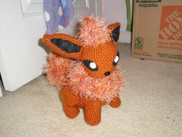 Flareon Crochet Doll by Shortcake-Middy