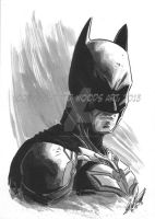 Batman Headshot by tedwoodsart