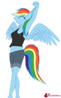 Rainbow dash anthro by orang111