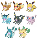 Derpy Eeveelution Stickers by PsykoaktiveFantasi