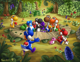 Yoshi nest by TheSym