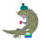 Tuatara with a cold by The-Episiarch