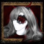 Red Rose Lace Eyepatch by Necrosarium