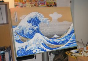 The Great Wave off Kanagawa by tuomaskoivurinne