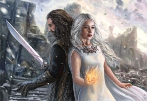 Thorin and Serah Commission by x-Celebril-x