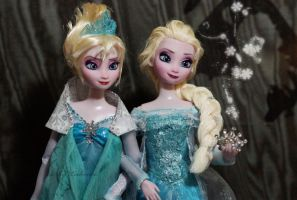 Just let it go! Elsa OOAK dolls by lulemee